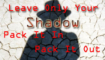 Luggage Tags - Leave Only Your Shadow
